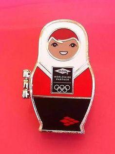 Sochi 2014 Olympics Sponsor Pin Dow Nesting Doll That Opens Up Too Cute | eBay
