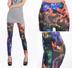 Punk ROCK neon smog print legging fashion tights pants leggings NEW 1 pcs