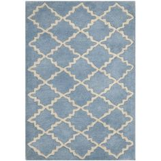 @Overstock - Soft blue and vintage ivory harmonize to create a tranquil ambiance, making this contemporary handmade wool rug a lovely centerpiece for your floor. The lush pile adds softness and comfort, meaning that the rug offers function as well as beauty.http://www.overstock.com/Home-Garden/Handmade-Moroccan-Blue-Grey-Wool-Rug-3-x-5/7153892/product.html?CID=214117 $74.69