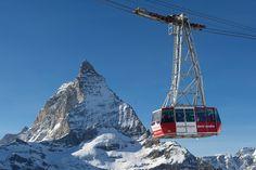 Zermatt - Gondola up to Klein Matterhorn #zermatt #switzerland #gondola #matterhorn