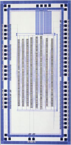 plagiarismisnecessary:  Xerox Palo Alto Research Centre Diagram of an Application-Specific Integrated Circuit (ASIC) test chip (1986)