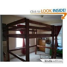 buy now This is a complete set of plans for my favorite Loft Bunk Bed ALL SIZES (Twin, Full, Queen, and King). The Loft Bunk Bed Upon Completion Attractive and decorative Leve… Queen Loft Beds, Loft Bunk Beds, Bunk Beds With Stairs, Kids Bunk Beds, Loft Spaces, Small Spaces, Loft Bed Plans, Childrens Beds, Woodworking Projects Plans