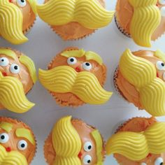 Lorax cupcakes // baked by me decorated by penelope