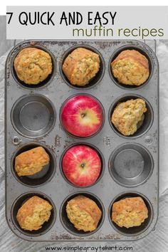 These 7 muffin recipes are tried and true. Simple muffin recipes made with ingredients you likely have in your pantry! We love muffins for breakfast and they also make great afterschool snacks! These muffin recipes freeze great for meal prep over the weekend. #muffinrecipe #quickbreakfastrecipe Healthy Breakfast Muffins, Healthy Muffin Recipes, Make Ahead Breakfast, Breakfast Ideas, Quick Snacks, Simple Snacks, Apple Cinnamon Oatmeal, Simple Muffin Recipe, Lemon Poppyseed Muffins
