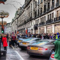 Astons everywhere! by Waclawsky Solyanyk Aston Db9, Oxford Circus, Piccadilly Circus, Supercar, Hdr, Aston Martin, Exotic, Street View, London