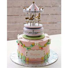 Fancy Cakes, Cute Cakes, Buttercream Cake, Fondant Cakes, Beautiful Cakes, Amazing Cakes, Creepy Circus, Carousel Cake, Theme Cakes