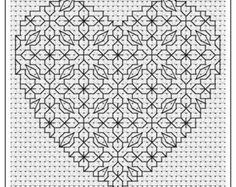 Blackwork Panel 2 PDF chart pattern by Chartsandstuff on Etsy Blackwork Cross Stitch, Biscornu Cross Stitch, Beaded Cross Stitch, Cross Stitch Kits, Cross Stitching, Cross Stitch Patterns, Kasuti Embroidery, Cross Stitch Embroidery, Embroidery Patterns
