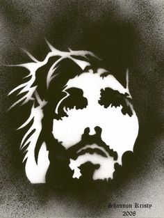 Jesus Christ by ~shanykristy on deviantART It's really cool it look part like a lion and part of his fax with the crown of thorns