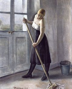 Girl at Work, 1933, by François Barraud
