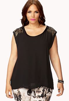 Edgy Spiked Top | FOREVER 21 - 2059302259