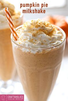 This delicious recipe is an amazing way to use up leftover Pumpkin puree! Whip up this Pumpkin Pie Milkshake for a great Thanksgiving treat!