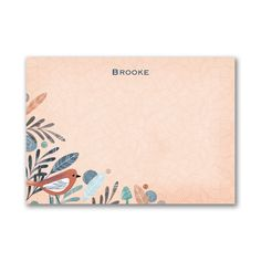 A darling design of feathers with a bird in the corner adds personality. It's an orange Post It Note that will be perfect for all your messages. Corporate Christmas Gifts, Event Marketing, Types Of Printing, Personalized Stationery, Teacher Appreciation Gifts, Bird Feathers, Notes, Birds, Print Ideas