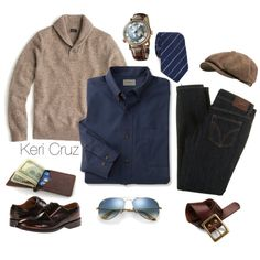 Respected Chap by keri-cruz on Polyvore featuring J.Crew, D&G, Paul Smith, Stetson, Lucky Brand, ETON, women's clothing, women's fashion, women and female