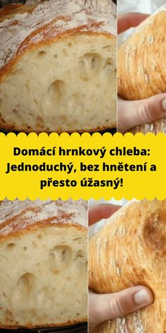 Home Recipes, Bread Recipes, Cooking Recipes, Czech Recipes, Bread Baking, Meal Prep, Bakery, Food And Drink, Vegetarian