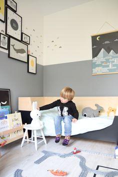 De make-overs van Eli's stoere jongenskamers Boy Toddler Bedroom, Toddler Rooms, Kids Bedroom, Boy Room, Diy Bedroom Decor, Bedroom Ideas, Kids Play Area, Bed Wall, Kids Room Design