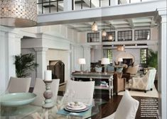 Victoria Graysons great room in Wrightsville Beach Mag love the woodwork and window transoms