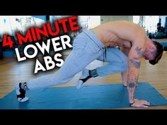 (2) 4 Minute Lower Ab Workout - YouTube