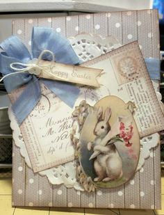 Easter Card with Vintage Images by Crishelle