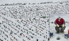 PICTURES: World's biggest ice fishing contest in -40F conditions