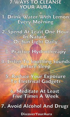 Cleaning your auric field