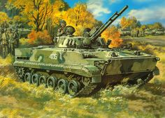 Kresba, pěchoty a bojových vozidel bmp-3 vektor