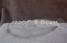 Rhinestone Tiara / Bridal / Wedding Tiara / Flower by lyndahats, $16.00