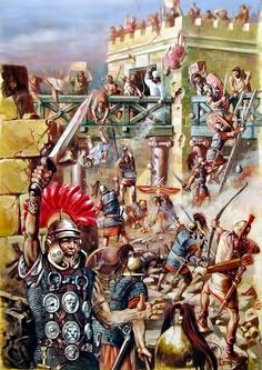 The suppression of the uprising of the Jews by the Romans led by Publius Quinctilius Varus in 4 AD