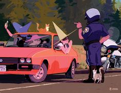 omg the cutes!  Image of WITCH SPEEDING TICKET