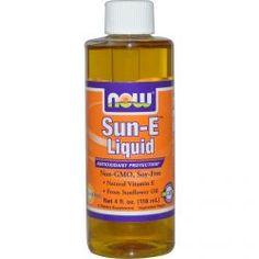 Now Foods, Sun-E Liquid, 4 Fl Oz (118 Ml), Diet Suplements 蛇