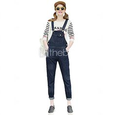 Women's Large Size Pocket Loose Denim Jeans Bib Overalls - USD $27.99 ! HOT Product! A hot product at an incredible low price is now on sale! Come check it out along with other items like this. Get great discounts, earn Rewards and much more each time you shop with us!