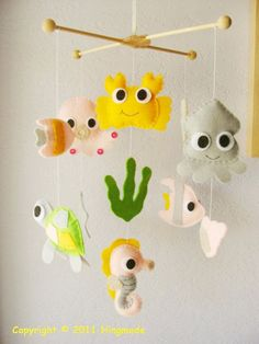 "Super-cute 'under the sea' mobile for nurser  PERFECT for my (future) daughter's ""Ariel/Under the Sea"" room!!!"