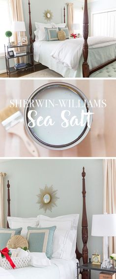 Guest Room Makeover | Sherwin Williams Sea Salt Color