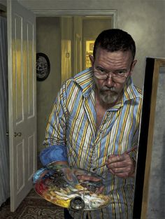 F. Scott Hess Self Portrait  I think this is one of the finest self-portraits