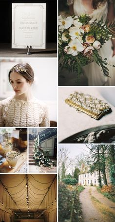 A peek at Ellie Snow's vintage wedding inspiration for Pemberley, a new wedding invitation design for Bella Figura's 2014 collection (on sale now through April 30!)