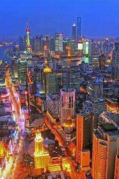 Shanghai during Night, China