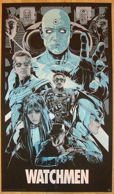 "2013 ""Watchmen"" - Silkscreen Movie Poster by Ken Taylor"
