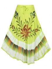 Plus Size Lime Groovy Maxi Skirt