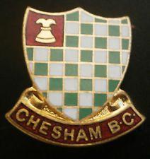 Chesham B.C Shield Type Bowling Bowls Brooch Pin Badge Miller