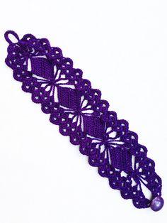 PDF Tutorial Crochet Pattern Lace Cuff by accessoriesbynez