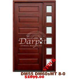 DM65s/DM60sMT 6 Panel Exterior Wood Mahogany Door 8-0   Darpet Interior Doors