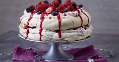 Mixed berry pavlova stack