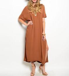 Copper Maxi Tee Dress NWOT