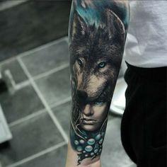 Ideas For Tattoo Hombre Antebrazo Bosque Wolf Tattoo Sleeve, Full Sleeve Tattoos, Leg Tattoos, Black Tattoos, Body Art Tattoos, Cool Tattoos For Guys, Trendy Tattoos, Unique Tattoos, Beautiful Tattoos
