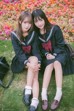 Check out these Japanes theme cosplay characters. School Girl Japan, Japan Girl, Japanese School Uniform, School Uniform Girls, Girls Uniforms, Beautiful Japanese Girl, Beautiful Asian Women, Cute Asian Girls, Cute Girls
