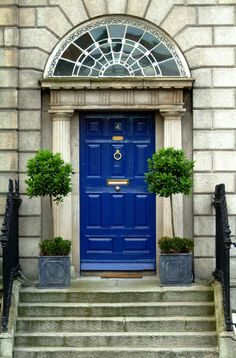 Traditional Georgian Doorways are commonly found in Dublin's Fitzwilliam Square, Ireland