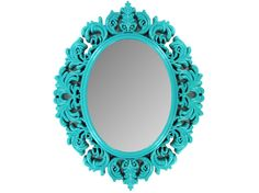 """could always do an ornate mirror in a vibrant color like: coral/rose or the green color? $23.99 14 1/2"""" x 1"""" x 18 1/2"""""""