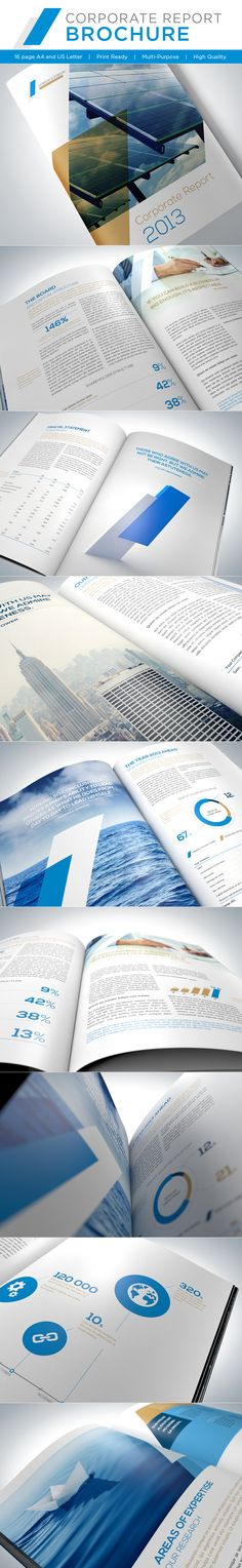 Corporate Report Brochure by Genetic (via Creattica)