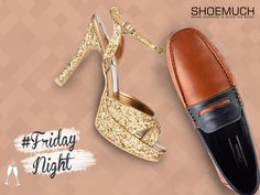 Shop for the perfect party pair at ShoeMuch! #FridayNight #MenFootwear #WomenFootwear #PartyFootwear #ShoeMuch