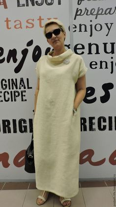 Boho Fashion, Fashion Outfits, Womens Fashion, Maxi Dress With Sleeves, Shirt Dress, Linen Tunic, Linen Dresses, How To Look Classy, African Dress