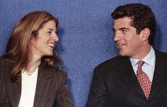 Caroline Kennedy Schlossberg and her brother John F. Kennedy Jr. share a laugh as they chat onstage at the 1998 John F. Kennedy Profiles in Courage Award ceremony at the JFK Presidential Library in Boston, May 29, 1998.